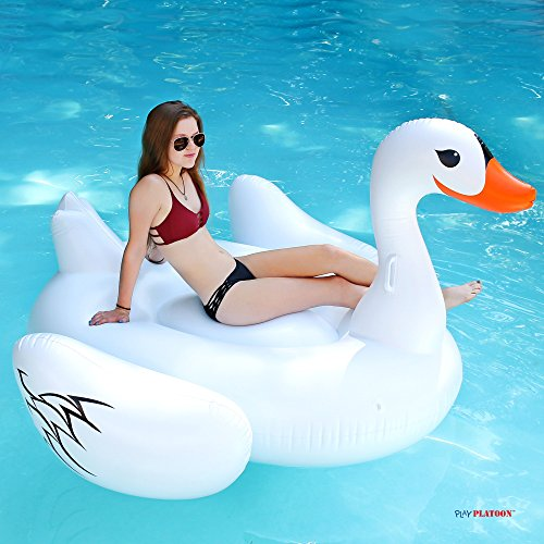 Image Is Loading Inflatable Ride On Pool Floats Big White Swan