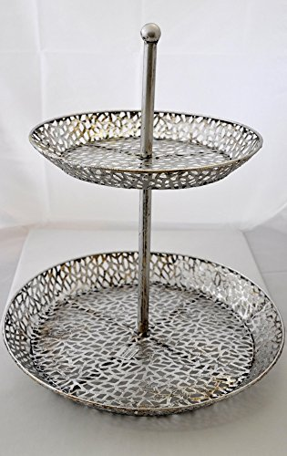 Casablanca Etagere Purley Metall Silber 45cm 74376