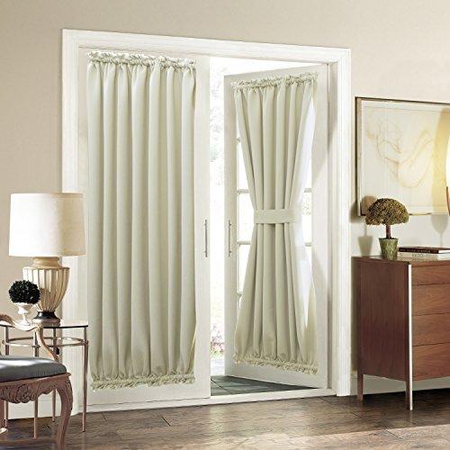 Aquazolax Plain Blackout Curtains French Door Panels Premium - 1 Piece, 54