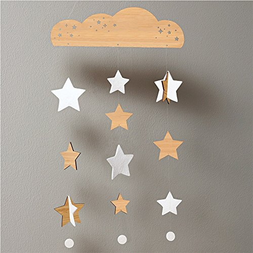 Petit Collage Deluxe Bamboo Mobile - Starry Sky front-513817