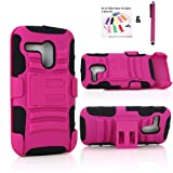 The Little Penguin Shock and Bump Proof Rugged Armor Hybrid Hard and Soft Kickstand Case and Holster for Motorola... by The Little Penguin