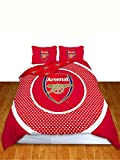Arsenal Double Duvet Cover Bullseye Design + Arsenal FC Crest Curtains 54'