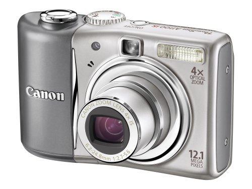Canon PowerShot A1100 IS Digital Camera - Silver (12.1 MP, 4x Optical Zoom) 2.5 inch LCD :  digital cameras camera cheap slr