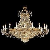 Kolarz Lustres Empire Or 24 carats Fait à la main,Fabriqué en Italie,Composé de cristaux SWAROVSKI