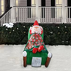 Christmas inflatable 5 ft animated sleeping for Amazon christmas lawn decorations
