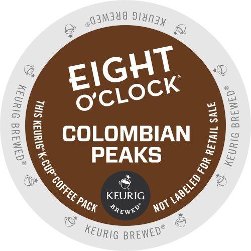Eight O'Clock Coffee Colombian Peaks, Keurig K-Cups, 72 Count