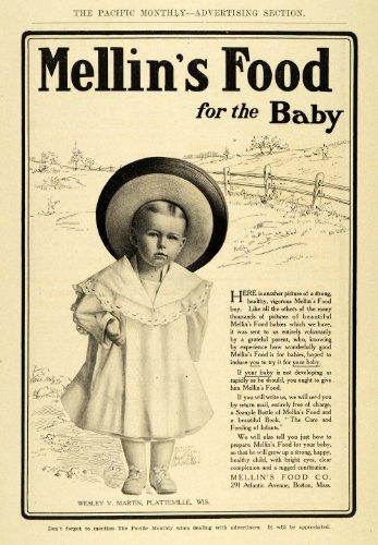 1906 Ad Mellins Baby Food Wesley Martin Platteville Wi - Original Print Ad