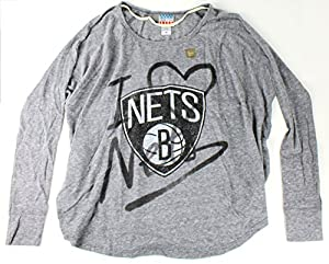 Brooklyn Nets NBA Ladies Time Out Oversize Long Sleeve Tee By Junk Food by Junk Food