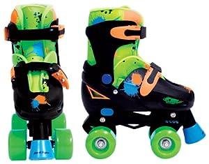 Street Flyers Adjustable Quad Roller Skates (Multi, Size 1-4)