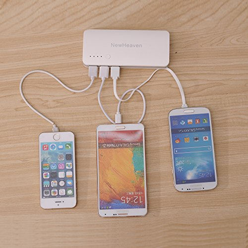 NewHeaven 13000mAh 3 USB Port Power Bank