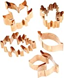 Old River Road Leaf Shapes Cookie Cutter Set, Copper, Set of 5