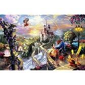 ディズニー映画「美女と野獣」 公式アーティスト(トーマスキンケード)による西洋絵画キャンパスプリント
