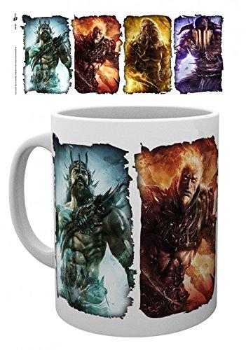 Set: God Of War, Gods Tazza Da Caffè Mug (9x8 cm) e 1 Sticker sorpresa 1art1®