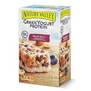 Nature Valley Greek Yogurt Protein Mixed Bars, Berry, 1.42 oz bars - 18 ct