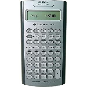 Texas Instruments BA II Plus Professional Financial Calculator (Color May Vary)
