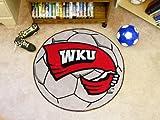 Fanmats 01326 Western Kentucky University Soccer Ball Rug