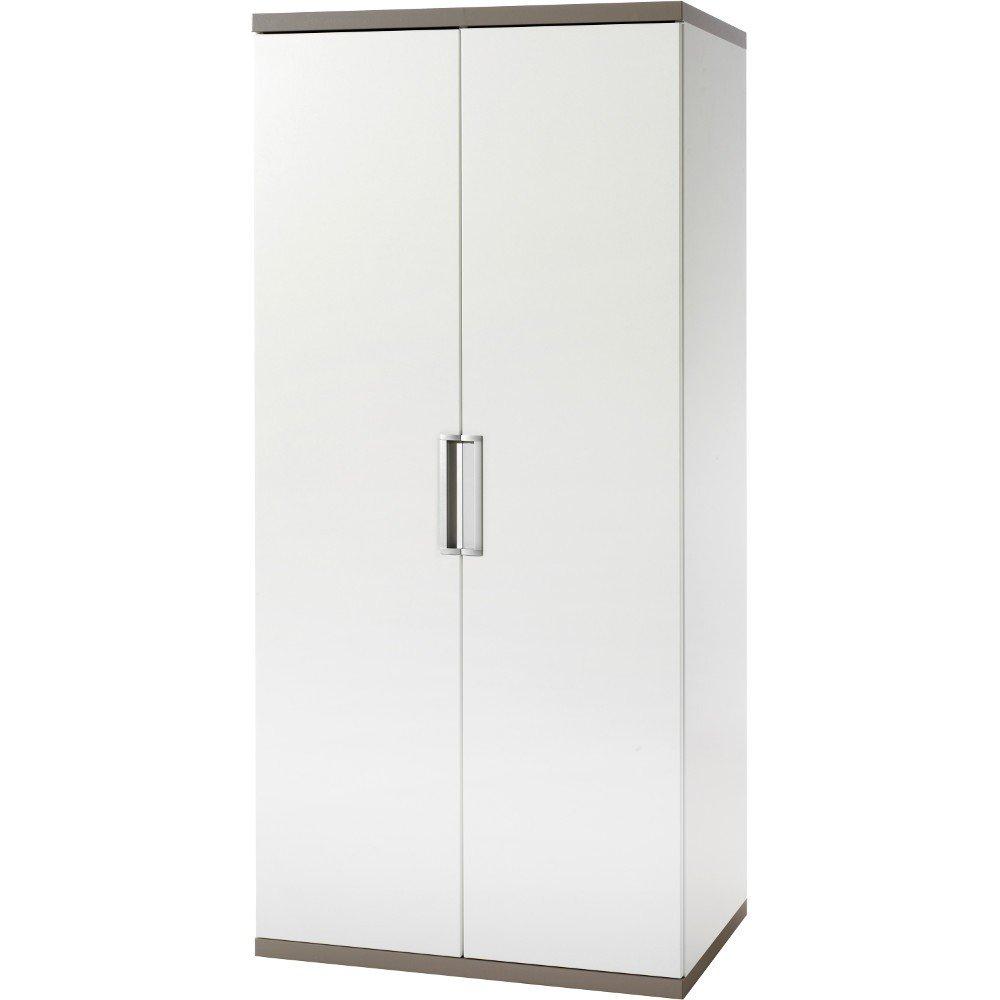 Geuther Kindermöbel 1182S2 Kleiderschrank Lanu, 2-teilig, 2 Türen, Soft-Close, 2 Kleiderstangen, 4 Einlegeböden