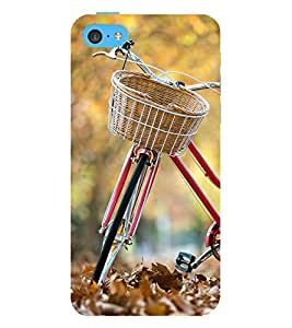 printtech Park Bike Back Case Cover for Apple iPhone 5C
