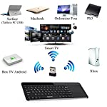 ESYNiC-Clavier-Sans-Fil-24GHz-Clavier-Souris-Touchpad-AZERTY-Ultra-mince-Multimdia-KODI-Noir-Media-Center-pour-Tablette-PC-Smartphone-Android-iOS-Surface-Raspberry-Pi-Mac-HTPC-IPTV-Box-Google-Android-