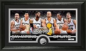 San Antonio Spurs 2014 NBA Finals Minted Coin Panoramic Photo Mint by Highland Mint
