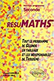 Rsumaths Seconde : Tout le programme en tableaux + les indispensables de 3me, nouveau programme de seconde