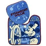 ミッキーマウス《ごきげんな旅》トイレ2点セット(特殊フタカバー+足元マット/トイレタリーセット)