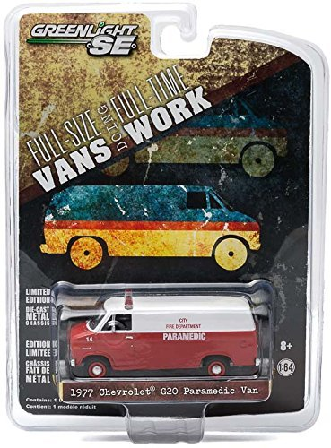 1977 Chevrolet G20 Van City Fire Department Hobby Exclusive 1/64 by Greenlight 29781 - 1