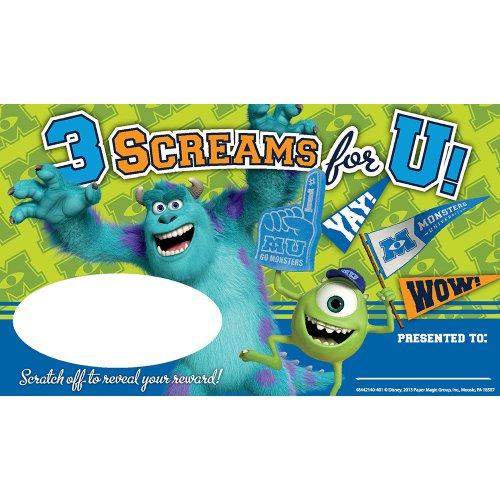Eureka Monsters University Scratch-Off Rewards