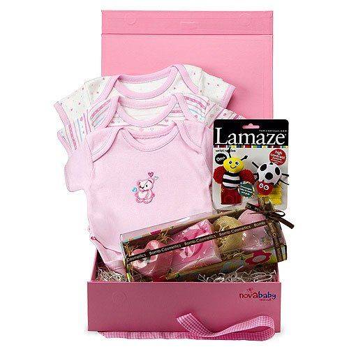 Baby Girl Gift Set (0-3 months) 'Isabelle' from Novababy in Pink Keepsake Gift Box