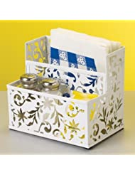 Design Ideas Vinea Step Pockets Storage Unit, White by Design Ideas
