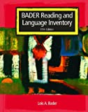 img - for Bader Reading and Language Inventory and Reader's Passages and Graded Word Lists book / textbook / text book