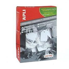 APLI Boite 1000 étiquettes bijouterie à fil 7 x 19 mm