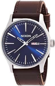 [ニクソン]NIXON SENTRY LEATHER: BLUE/BROWN NA1051524-00 メンズ 【正規輸入品】