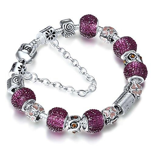 A-TE-Charm-Pulsera-Violeta-Cristal-Mujer-con-Letras-Familia-Cadena-de-Seguridad-Regalo-JW-B22