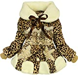 New Baby Girls Kids Toddler Outwear Clothes Winter Jacket Coat Snowsuit Clothing 3T/2-3Years Leopard