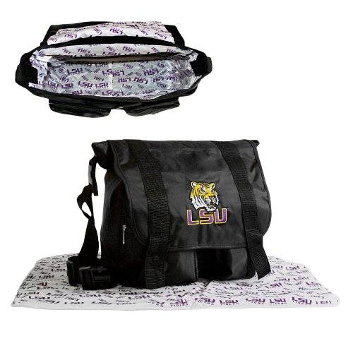 NCAA LSU Fightin Tigers Sitter Diaper Bag