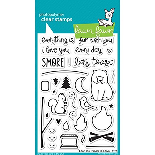 Lawn Fawn Clear Stamps - Love You S'more подставка для мелочей lawn
