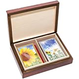 Bello Games New York%2C Inc The Knight Card Case & Bello Games Designer Series Summer Sunflowers Congress Playing Cards From Spain.