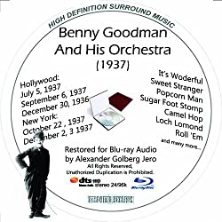 Benny Goodman (1937) And His Orchestra Restored For Blu-ray Audio Featuring Audio Only and Video Disc Produced with Short Films by Charly Chaplin