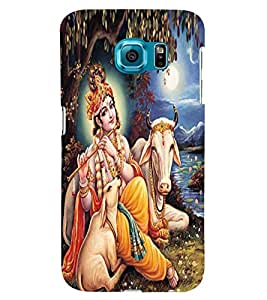 Printvisa Lord Krishna By The Riverside Back Case Cover for Samsung Galaxy S6 Edge+ G928::Samsung Galaxy S6 Edge Plus G928F
