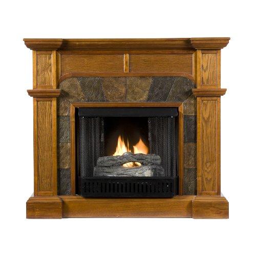 Sei Cartwright Convertible Gel Fuel Fireplace Slate Mission Oak Home Decor