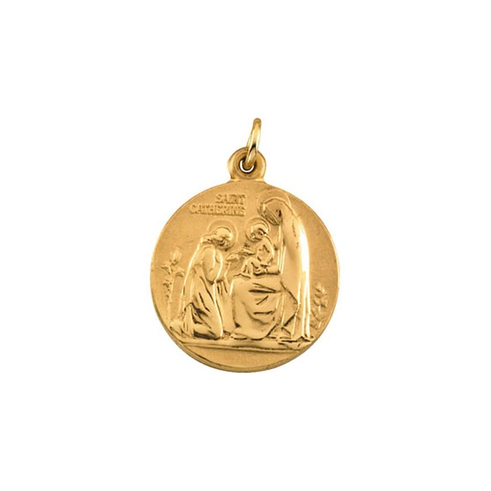 14K Yellow Gold 12.14x12.09mm St Anthony Medal