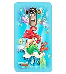 Printvisa Animated Underwater Mermaid Back Case Cover for LG G4::LG G4 H815