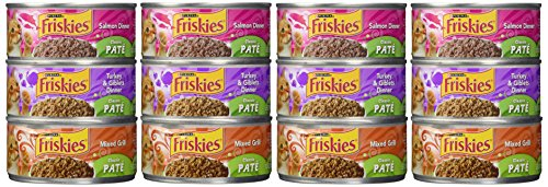 Friskies Wet Cat Food, Classic Pate, 3-Flavor Variety Pack,