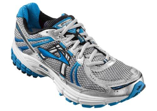 Brooks Brooks Men's Adrenaline GTS 12 Running Shoe,White/Obsidian/Brilliant Blue/Dark Navy/White,11 D US
