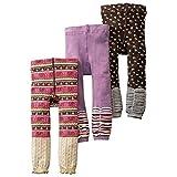 [backbuy] 3para 0-3años bebé niñas Leggings pantalones de punto pantalones PJ7 Talla:18-24 meses