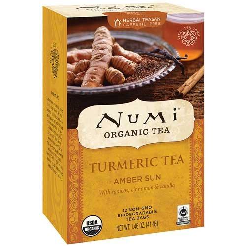 Numi Tea - Organic Turmeric Tea, Amber Sun, 12Ct