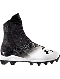 Under Armour Boy's Highlight RM Football Cleats, Black/White
