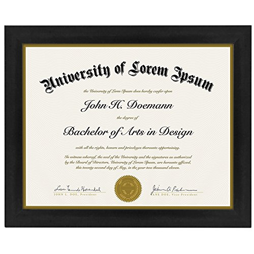 Document Frame - Made to Display Certificates 8.5x11 Inch - Document Frames, Certificate Frames, Standard Paper Frame (8 1 2 X 11 Document Frame compare prices)