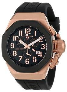 Swiss Legend Men's 10542-RG-01-BB Trimix Diver Chronograph Black Dial Black Silicone Watch